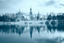 Landscape Orthodox Church Of Vologda, Historical Center Of Tourism In Russia, Christian Church Landscape
