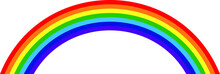 Rainbow On A White Background. Drawing For Children.