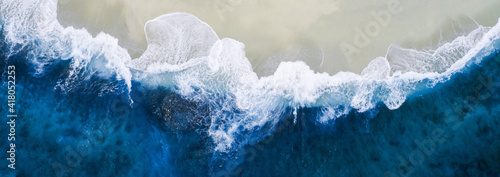 Canvas blue wave