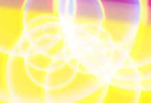 Purple And Yellow Gradient Illuminated Bubbles