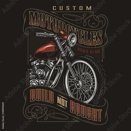 Custom motorcycle colorful label Fotobehang