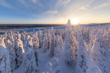 Aerial View Of Lapland, Finland.