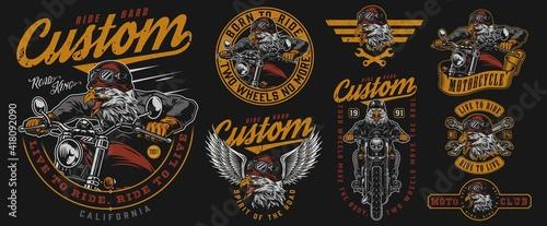 Fotografia Custom motorcycle vintage designs composition