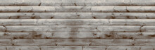 Rotten Barn Wood Plank Material Wall Background. Rustic Block House Panel. Shabby Home Rough Fence Design. Isolated Board Wide Pamoramic Banner.