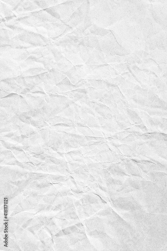 Obraz Vertical white crumpled paper surface background texture - fototapety do salonu