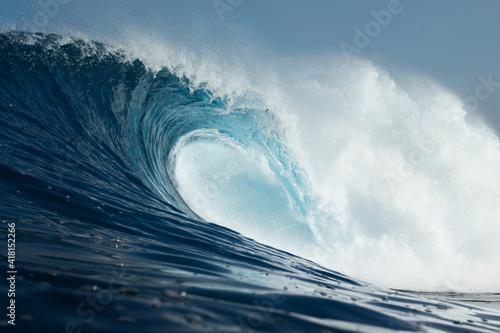 Powerful wave breaking in Atlantic Ocean