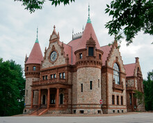 Romanesque Style Building Of Wellesley Town Hall MA USA