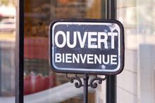 French Outdoor Open Sign