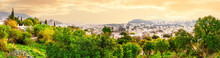 Panorama Of Bodrum With Houses And Marina In Background Of St. Peter's Cathedral In Evening