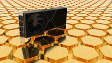 Videocard  Hexagon Background Business Wallpaper