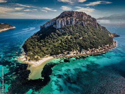 Fototapeta L'isola di Figarolo, Golfo Aranci, Sardegna