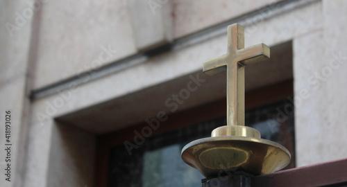 Fotografiet Croce simbolo della religione cristiana