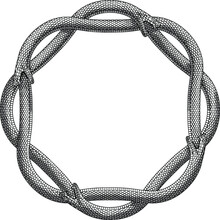 Ouroboros Of 4 Snakes In A Vintage Style