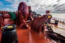 Anchor Gear - Windlass On Large Crude Oil Tanker