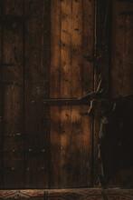 Closeup Of A Traditional Wooden Door