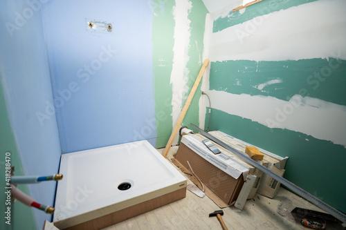 Salle de bain en travaux Fototapete