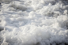 Sea Wave Close-up. Sea Foam.