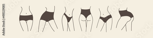 Fotografiet Beautiful slender female hips, legs and waist in various poses