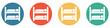 Bunter Banner mit 4 Buttons: Hochbett, Doppelstockbett oder Zimmer für mehrer Personen