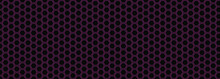 Pink Hexagon Light And Black Abstract Background
