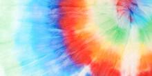 Tie Dye Pattern. Vibrant Artistic Dirty Art. Tie Dye Spiral Pattern. Bright Summer Colors Effect. Grunge Hand Drawn Fabric. Aquarelle Illustration. Trendy Fashion Kaleidoscope.