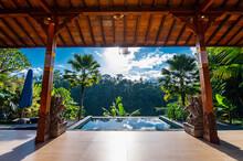 Pool At Private Villa In Luxury Resort, Ubud, Bali, Indonesia