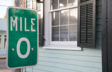 Mile Marker Zero Sign In Key West, The Florida Keys On End Of US1.