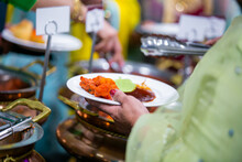Authentic Indian Food And Snacks Close Up