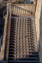 Stairs From Kampa To Charles Bridge / Prague, Czech Republic