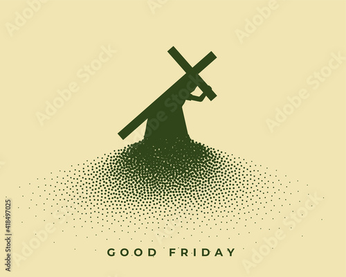 Canvas jesus christ carrying cross good friday background