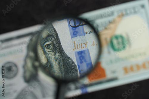 July 4 on us dollar banknote © PixieMe