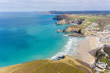 Aerial Photograph Of Portreath, Redruth, Cornwall, England