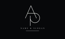 PA, AP, P, A Abstract Letters Logo Monogram