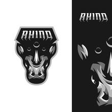 Angry Rhino Mascot