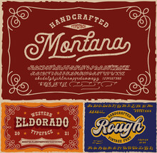 Vintage Fonts Bundle, This Set With Fonts Is Perfect For Short Phrases Or Headlines And Can Be Used For Many Creative Products Such As Alcohol Labels, Emblems, Posters, And Many Others