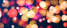 Contrast And Colorful Bokeh Texture Background