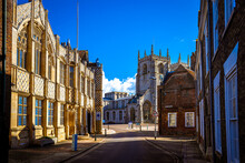 A View Of King's Lynn, A Seaport And Market Town In Norfolk, England
