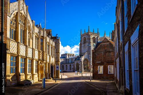 Fotografering A view of King's Lynn, a seaport and market town in Norfolk, England