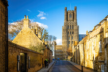 The Sunset View Of Cathedral Of Ely, A City In Cambridgeshire, England