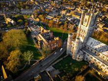 The Aerial View Of Cathedral Of Ely, A City In Cambridgeshire, England
