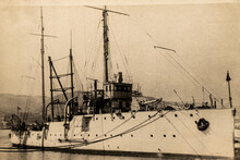 Russia - CIRCA 1910-1917: The Destroyer Military Ship Of The Imperial Russian Navy. Destroyers Also Participated In World War I And The Russian Civil War
