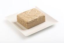 Vegetable-based Halva Sweet Prepared From Seeds On White