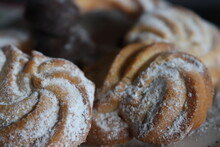 Delicious Chocolate Sugar Cookies Different Shapes And Flavors