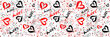 pattern love and heart, backgrounds love, wallpaper font  and heart
