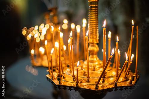 Fotografie, Tablou Candles in chandelier