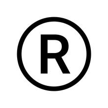 Registered Trademark Logo Icon. Copyright Mark Symbol Icon
