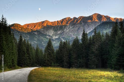 Fototapeta premium zachód słońca tatry