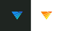 Abstract Triangle Vector Logo Design Concept Illustration