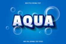 Editable Text Effect Aqua Color White And Blue