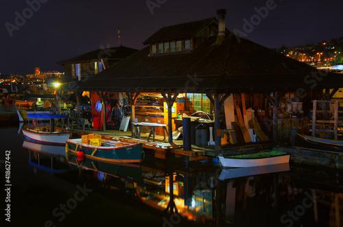 Foto Seattle Lake Union Boathouse Night Photography Landscape